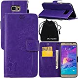 DRUnKQUEEn Note 5 Case, Galaxy Note5 Case, Wallet Case with Cellphone Holder - PU Leather Cover Purse Slim Fit Card Slot for Samsung Galaxy Note5 N920