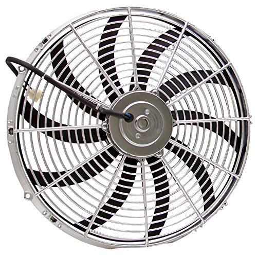 Zirgo 10214 Chrome 16″ 3000 fCFM High Performance Blu Cooling Fan