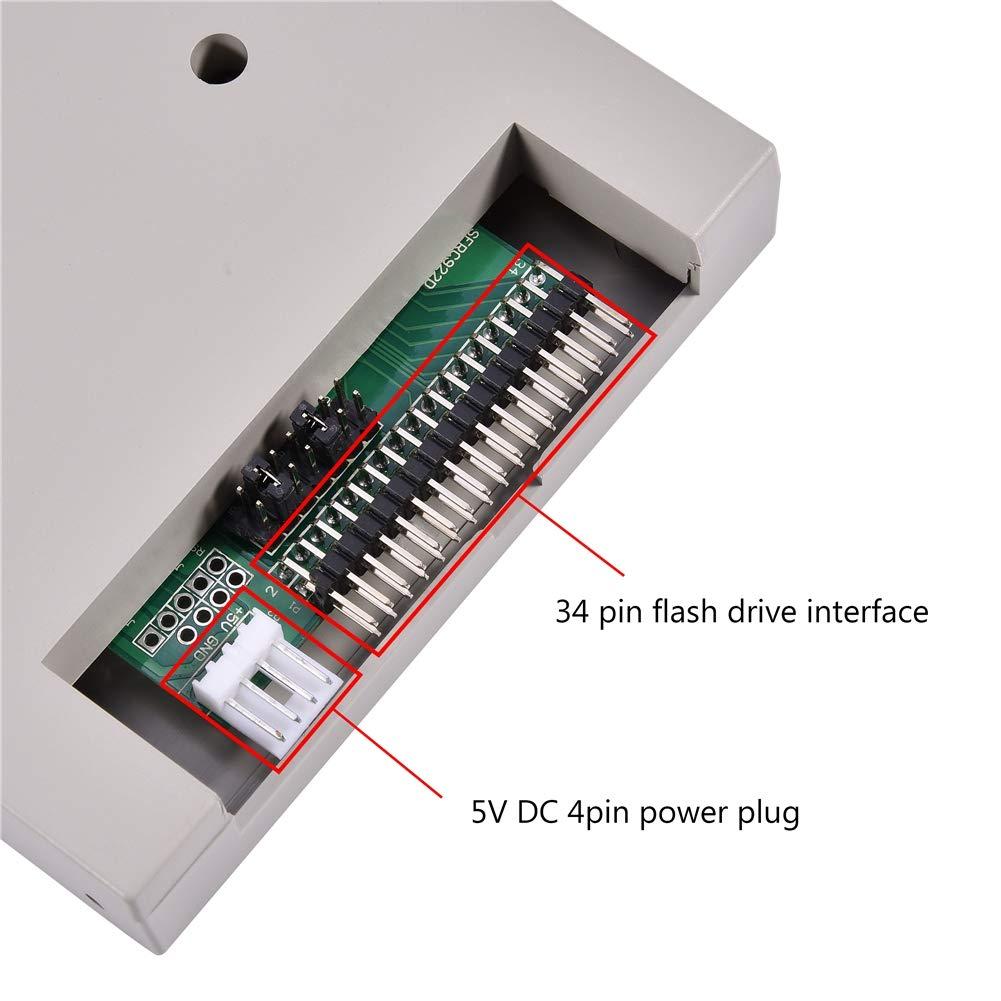 Facile da Installare per Yamaha Korg Roland 720KB Organo Elettrico Emulatore Unit/à Floppy USB SFRM72-FU-DL con Interfaccia Floppy Driver 34pin Alimentatore DC 5V Richer-R Emulatore USB Floppy