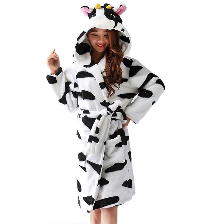 Amazon.com: Y&L Adult Unisex Soft Fleece Cartoon Robes Hooded Sleepwear Bathrobes Housecoat Gowns: Clothing