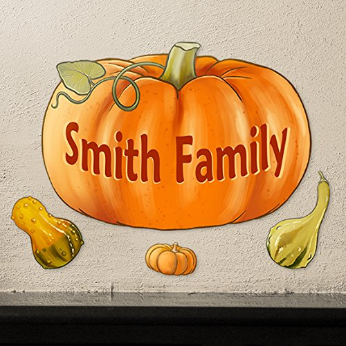 Halloween Pumpkin Personalized Wall Decals Peel and Stick Removable Reusable Decoration (Halloween Pumpkins Peel And Stick Wall Decals)