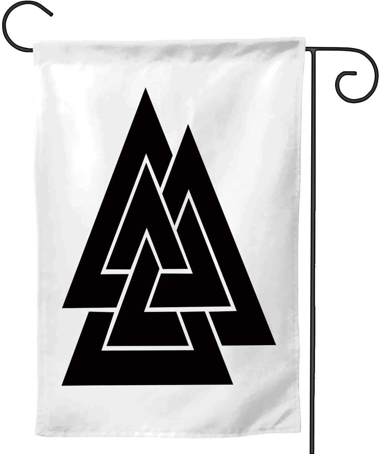 C COABALLA Valknut Icon, Garden Flag Double Sized,Rustic Yard Outdoor Decoration 12.5''x18''