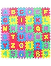 GARNECK Alfabet Nummers Foam Puzzel Speelkleed in Elkaar Grijpende Eva Vloertegels Voor Kinderen Peuters Baby's Klimmatten Tatami Tapijt Vroeg Educatief Speelgoed 36 Stks