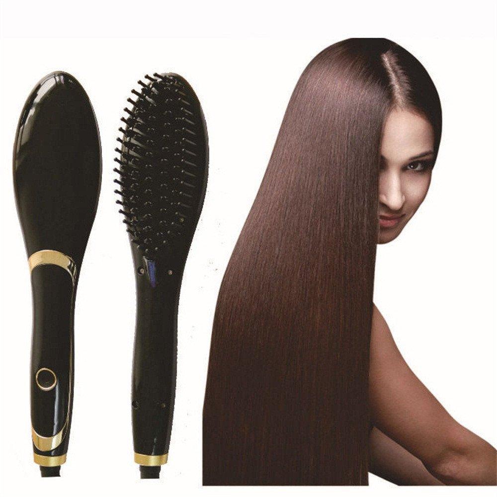 Cepillo Alisador Electrico deLCD horquilla, férula eléctrica, peine de pelo recto, plancha de pelo, peine de cerámica, peluquería.: Amazon.es: Belleza