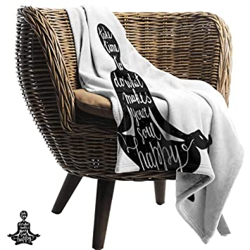 Amazon.com: BelleAckerman Baby Blanket,Yoga,Black ...