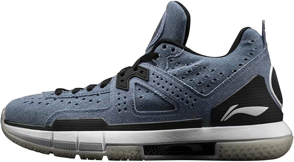 LI-NING Wow 5 Denim ABAM057-9 - Zapatillas de Baloncesto Profesionales para Hombre (Forro y Forma de Wade), Color Azul, Azul (Mezclilla), 42.5 EU: Amazon.es: Zapatos y complementos