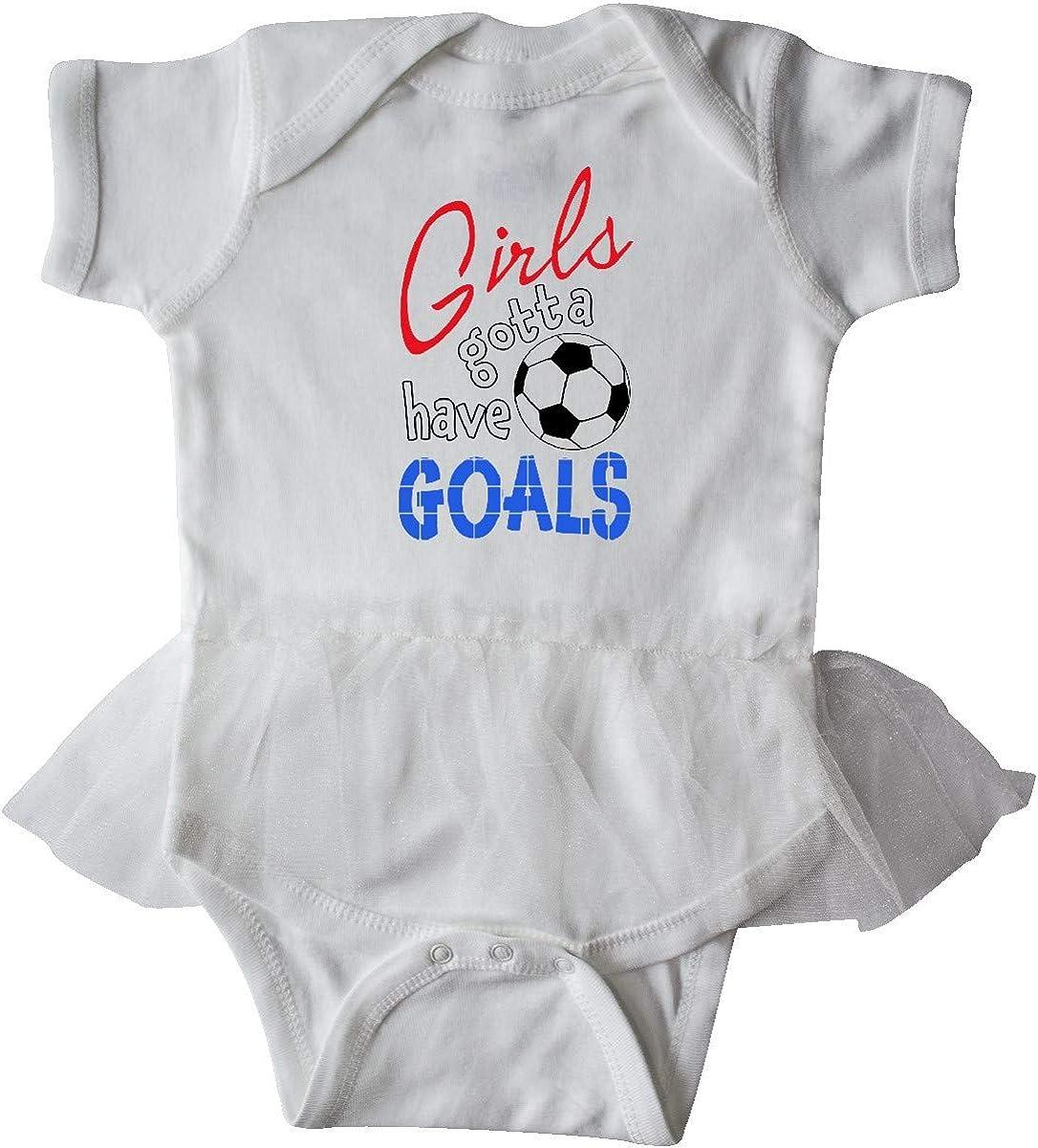 inktastic Girls Gotta Have Goals with Soccer Ball Infant Tutu Bodysuit