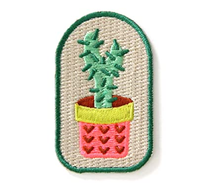 Amazon.com: Cactus Plant Embroidered Sew or Iron-on Backing Patch
