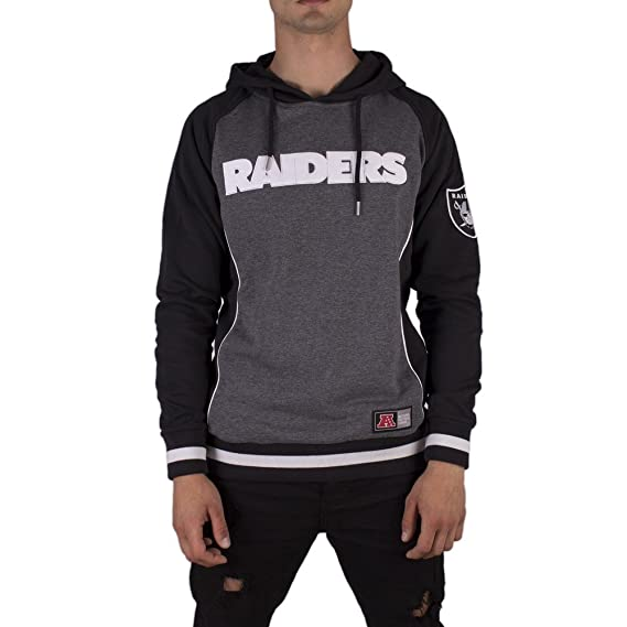Majestic Sudadera Capucha NFL Oakland Raiders Handly Oth Fashion Carbón M (Medium)