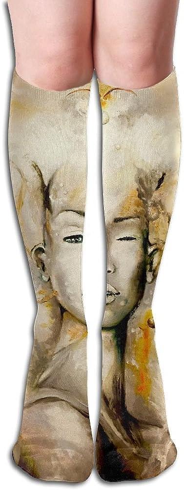 Free Guitar Big Girls//Women Cartoon 3D Pattern Knee High Socks Compression Socks