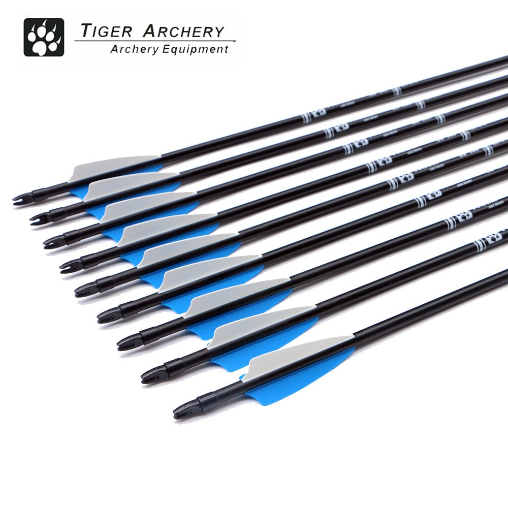 Tiger Archery 30inch Fiberglass Arrow With Replaceable Arrowhead Spine 500 for Recurve and Compound Bow Hunting and Practice Hunting(Pack of 12) by Tiger Archery (Image #4)