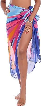White Green Half Sarong Love Heart Mini Cover Up Silver Lurex Beach Wrap Skirt