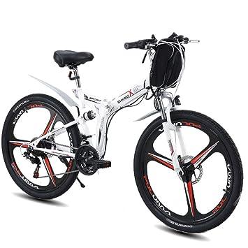 MERRYHE Bicicletas De Montaña Eléctricas Plegables 350W-48V Batería De Litio Extraíble Bicicleta Eléctrica Moto