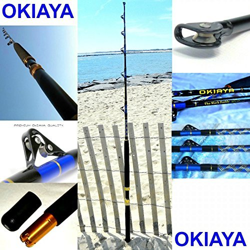 (OKIAYA 5'6ft COMPOSIT Mack Daddy 30-80LB Saltwater Big Game Roller)