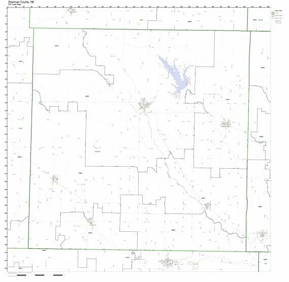 Nebraska Map By County.Amazon Com Sherman County Nebraska Ne Zip Code Map Not Laminated