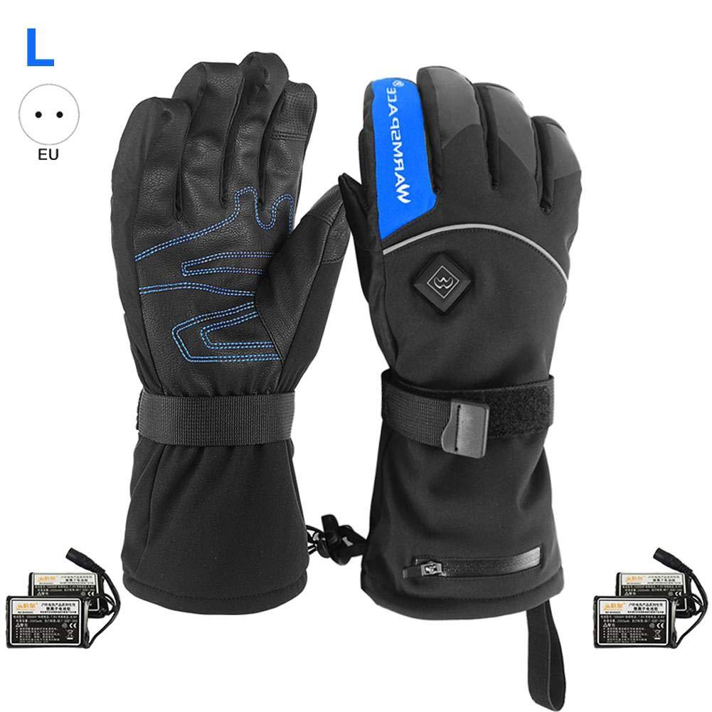 KiGoing 4000mAh Elektrische Batterie Beheizte Handschuhe Thermohitze Handschuhe Batteriebetriebene Beheizte Ski Bike Motorrad Handschuhe für Männer und Frauen