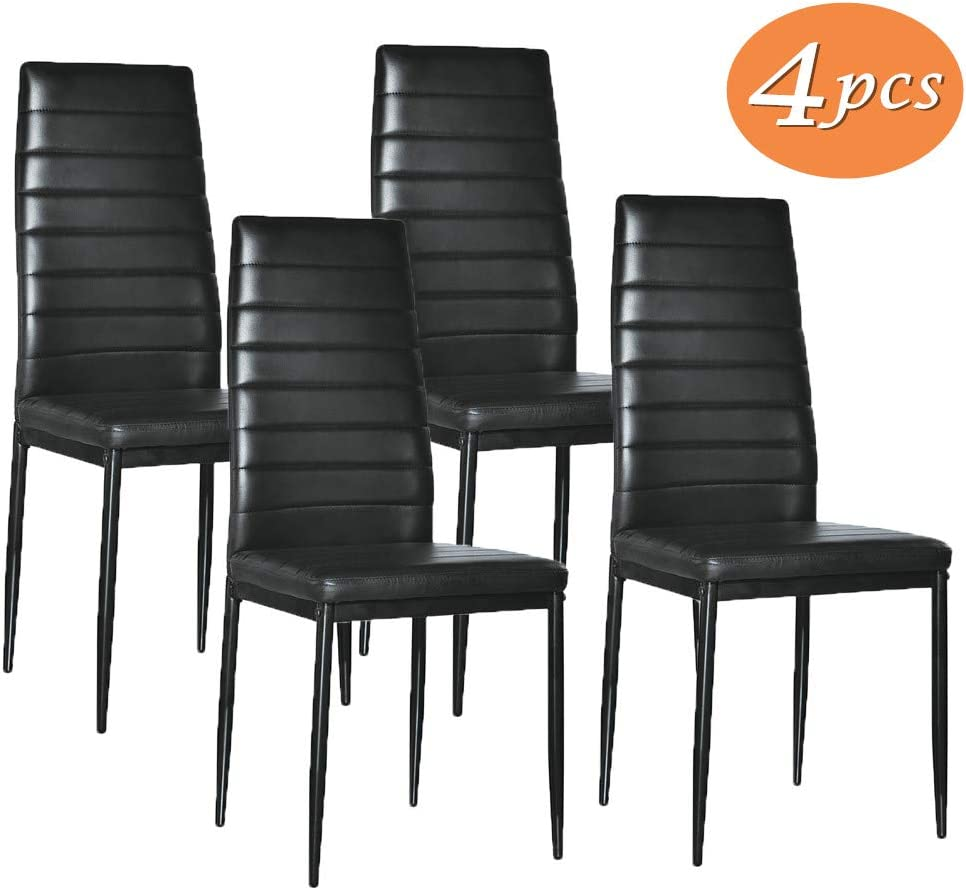 Amazon.com - Kitchen Chairs Set of 8, PU Leather Dining Room Side