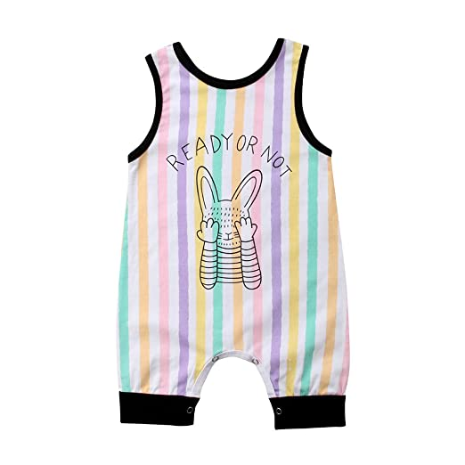 d16398e13 Amazon.com  Tranyee Baby Boys Girls Colorful Stripe Letter and ...