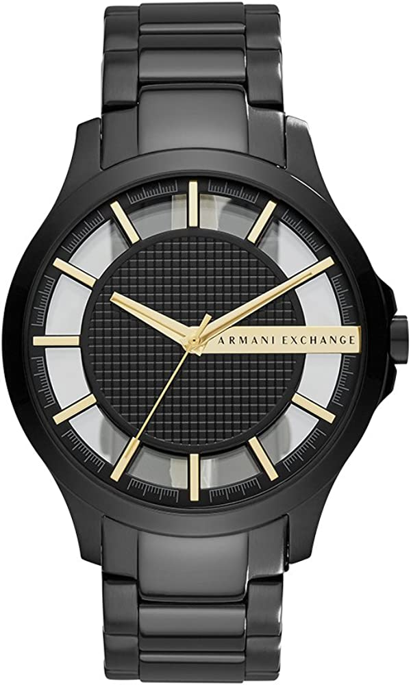 A X Armani Exchange Stainless Steel Matte Textured Y-Link Bracelet Watch