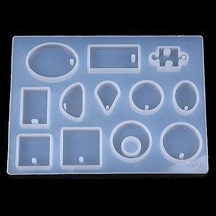 Molde de silicona para collar, collar, colgante de resina, herramienta para hacer manualidades