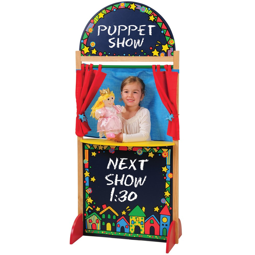 CP Toys Kid-sized Hardwood Puppet Theater with Chalkboard by Constructive Playthings (Image #1)