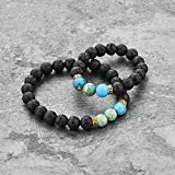 Mystiqs Kids and Adult Matching Lava Rock Beaded Bracelets Essential Oil Diffuser Set for Aromatherapy Ideal for Anti-Stress or Anti-Anxiety