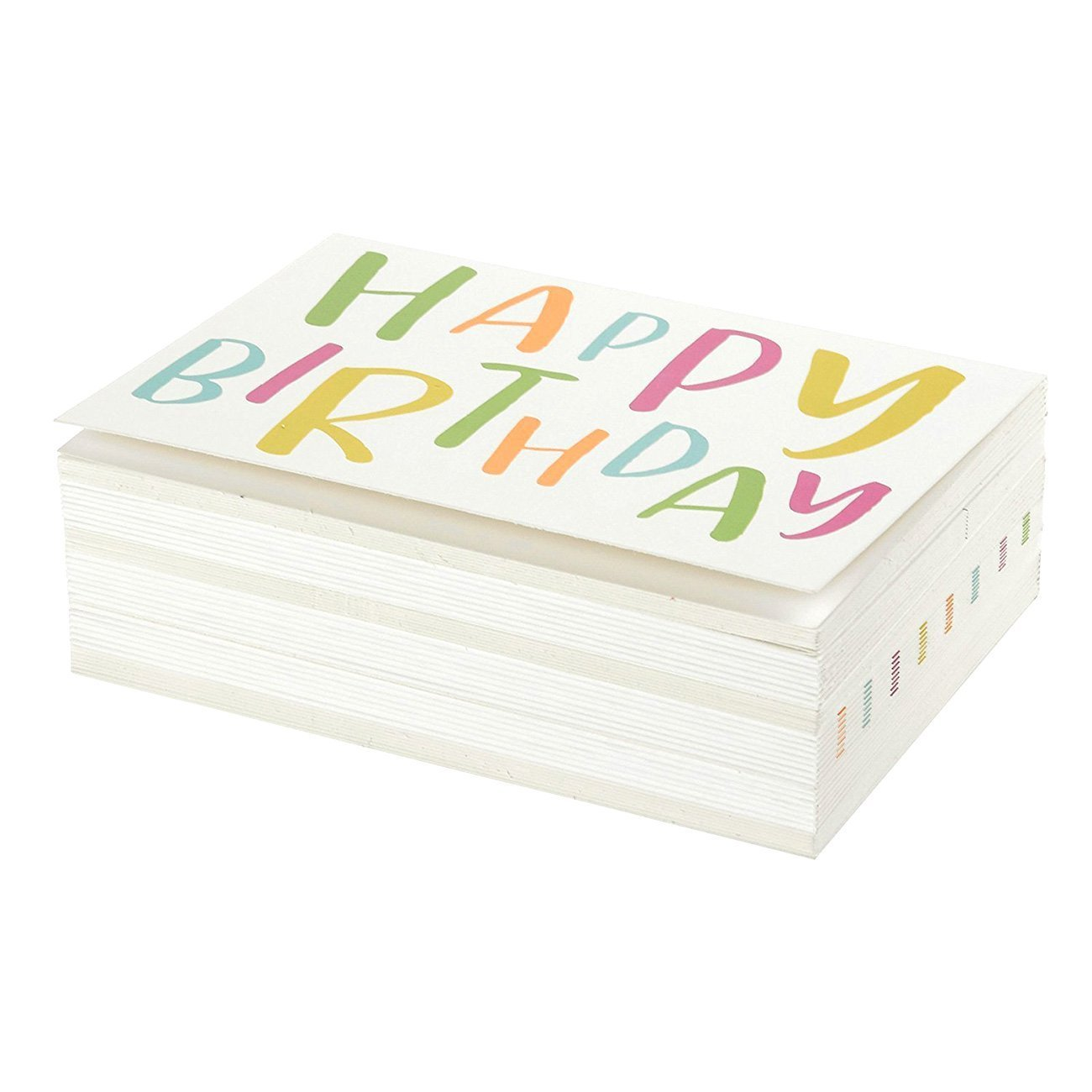 interno bianco/ Happy Birthday biglietti d auguri/ /Confezione bulk box /10,2/x 15,2/cm /include 48/biglietti e buste/