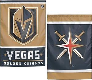 WinCraft NHL Las Vegas Golden Knights Garden Flag, 12.5 x 18 inches, 2 Sided