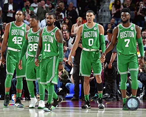 Boston Celtics 2017-2018 NBA Starting Five Photo (Size: 11