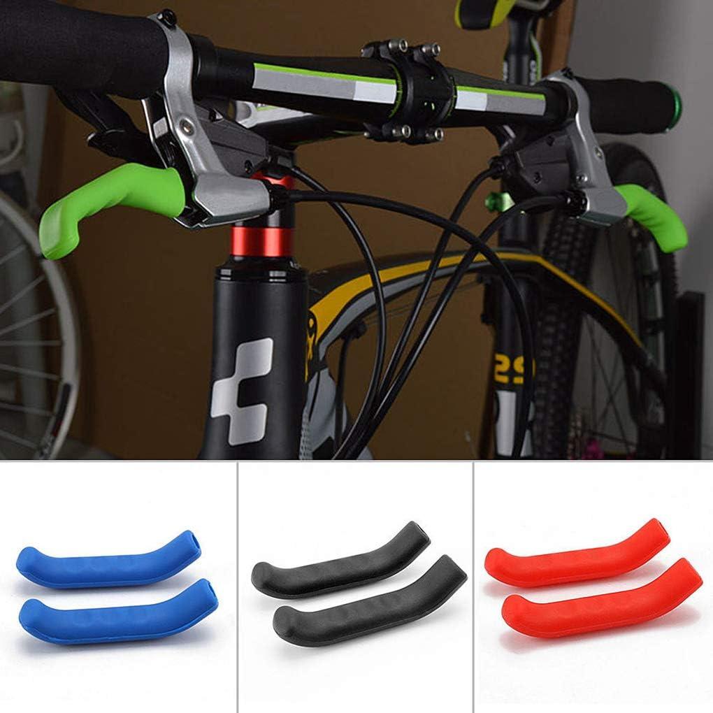 Lorsoul 1 par de Bicicletas de monta/ña Barra de la manija de Agarre Wrap Palanca del Freno de Bicicletas Antideslizante de Silicona Protector de la Cubierta