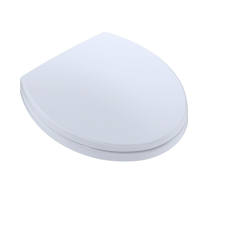 TOTO SS113#01 Transitional SoftClose Round Toilet Seat, Cotton White ...