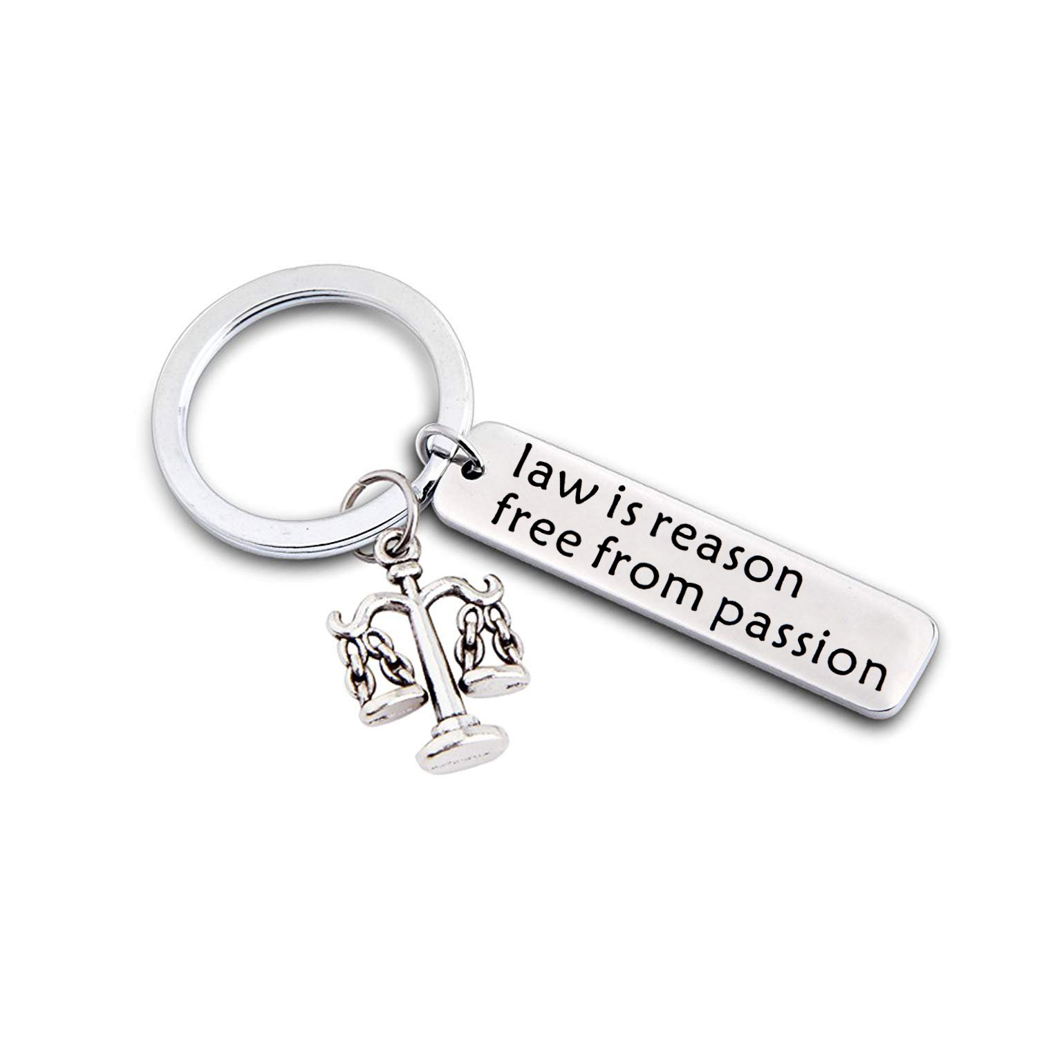 Gzrlyf Lawyer Keychain Attorney Keyring Lawyer Gifts Justice Keychain Law is Reason Free From Passion Keychain Scales Keychain Judge Gift Law Student Gift (lawyer keychain)