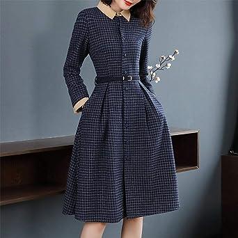 Azastar damska sukienka z długim rękawem do kolan, wąska sukienka ołÓwkowa, do pracy, na imprezę, kolor: grantowy , rozmiar: xxl: Odzież
