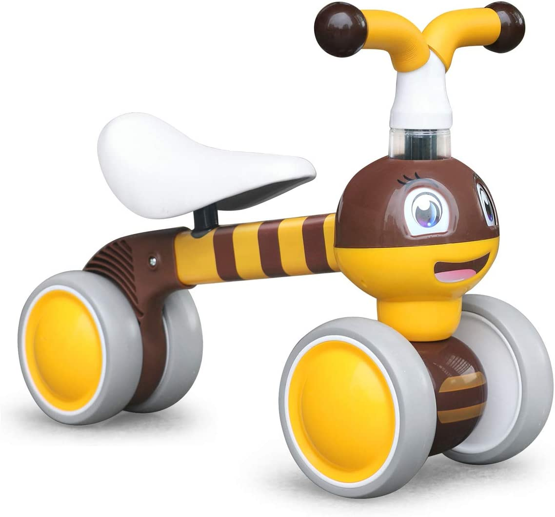 XIAPIA Bicicleta sin Pedales para Niños, Bicicleta Bebe 1 Año Bicicleta Equilibrio 1 Año Bicicleta Infantil sin Pedales de Forma Animal Lindo de Abeja de Regalo Favorito del Niño (Ape)