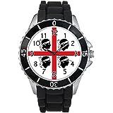 Timest - Sardegna bandiera del paese - Unisex - nero silicone della gelatina orologio da polso Analogico Al quarzo CSE130b