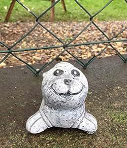 piedra Figura Kleine Robbe, a las heladas y resistente a la intemperie, macizo de piedra