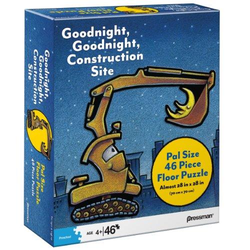 Pressman Toys Goodnight, Goodnight, Construction Site Pal Size Puzzle (46-Piece)