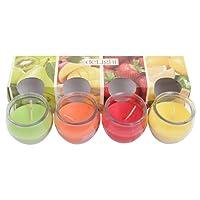 4er Set Duftkerzen im Glas Fruit Selection