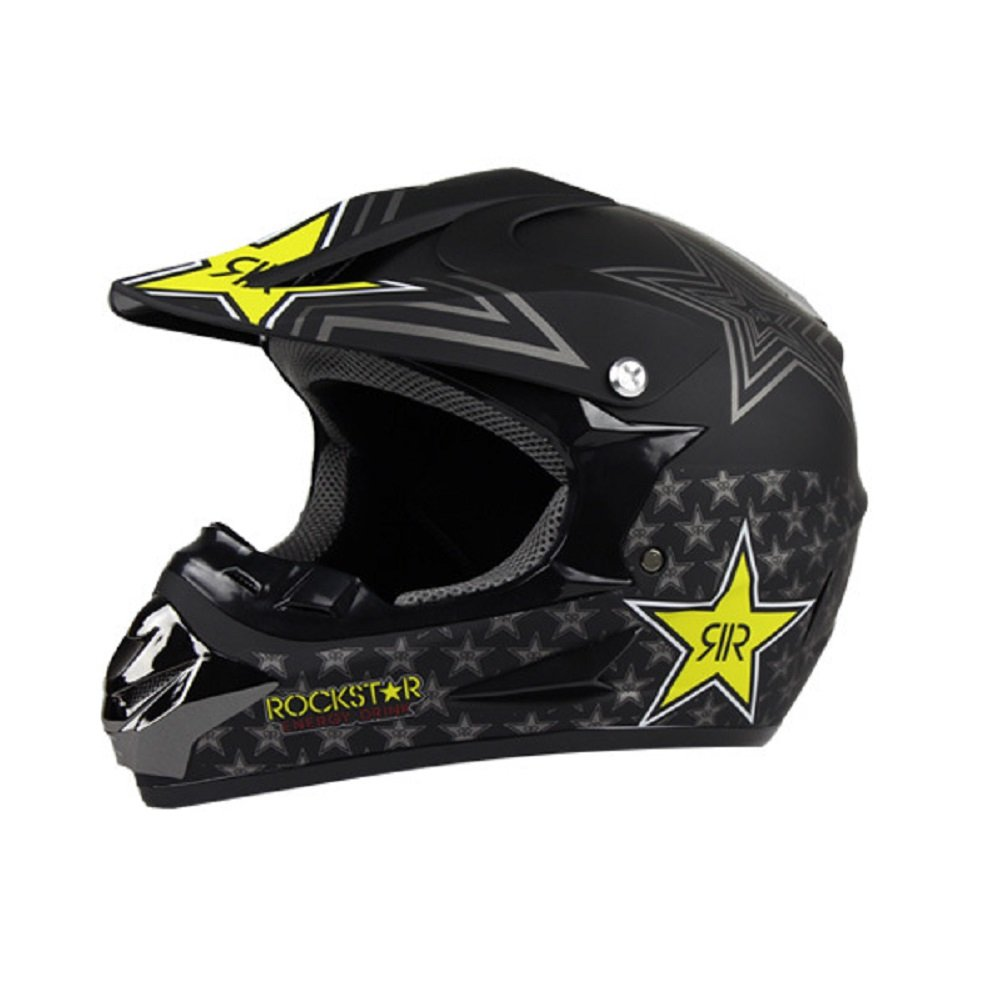 Duebel Rockstar moto casco para BMX/Downhill/Esquí/Dirt Bike/Cross: Amazon.es: Deportes y aire libre