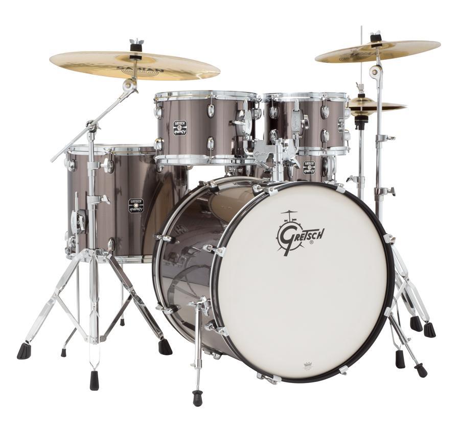 gretsch drums energy gex e825pk gs 5 piece drum set grey steel musical instruments. Black Bedroom Furniture Sets. Home Design Ideas