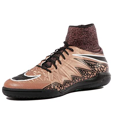 lowest price bab6d f6e8f Nike Youth Hypervenomx Proximo Indoor Soccer Shoes (Metallic RED Bronze  Black White)