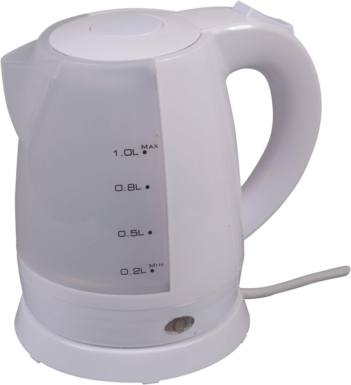 0618 Kompakter, kabelloser Camping Wasserkocher 1 Liter Weiß