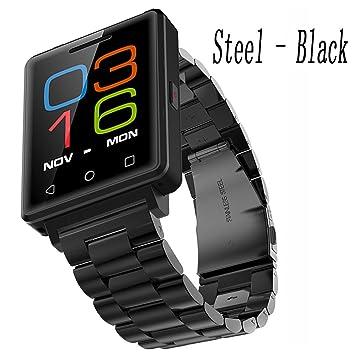 Black Steel Tracker De Actividad Con Reloj Inteligente For Children , Shengyaohul Digital Wrist Watch Bluetooth Empuje / Alarma / Monitor De Sueño Relojes ...