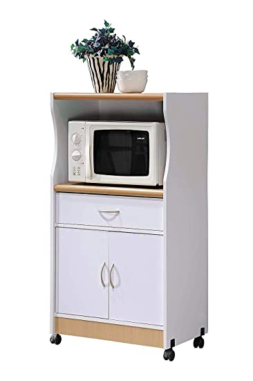 Amazon.com - Moveable Kitchen Island Cart on Wheels 2 Doors ...