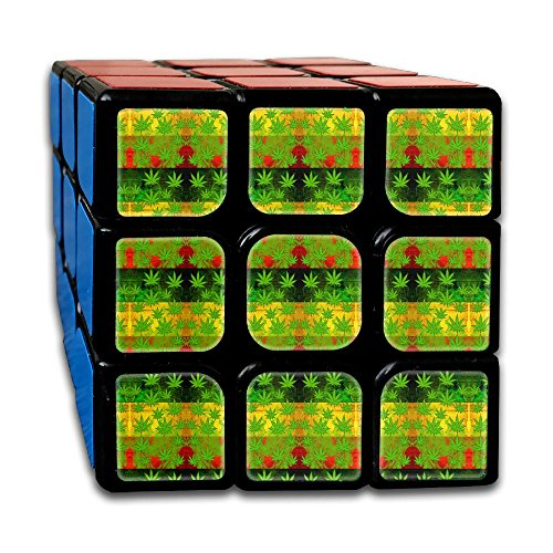Weed Reggae 3x3 Smooth Speed Magic Rubiks Cube Puzzle Cube Puzzles Toys - Dolphin Speed Boat
