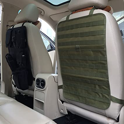 amazon com car back seat organizer tactical molle seat cover
