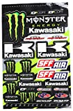 D'cor Visuals 40-20-116 Kawasaki Decal Sheet