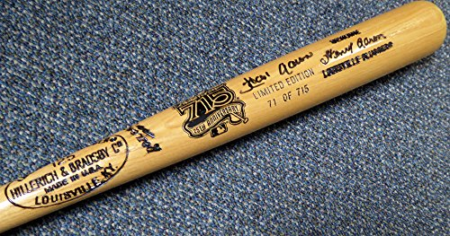 Hank Aaron Autographed Louisville Slugger Bat Atlanta Braves Beckett BAS #C02070