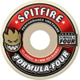 Spitfire Formula 4 White / Red Skateboard Wheels - 56mm 101d (Set of 4)