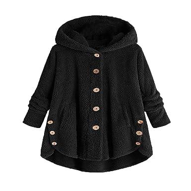 Amazon.com: Chaqueta de invierno con botón suelto, cálida ...
